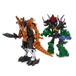 1pc Rope robot dinosaur toy Deformation toys Grimlock Robot model Supermodel God 69 * 35 * 11CM