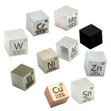 Cube de Distillation en métal, 10mm de densité par jour, Collection cuivre, Cobalt, Nickel, cuivre, Zinc, étain, carbone, tungstène, affichage de loisirs