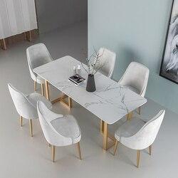 Oświetlenie w stylu nordyckim luksusowy stół z marmuru strona główna restauracja kawiarnia dorywczo stół do jadalni łóżko i śniadanie stół żeliwny