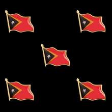 Timor-Leste Flag Waving 3D Lapel Hat Cap Tie Pin Badge Brooch Patriotism Pride Brooch