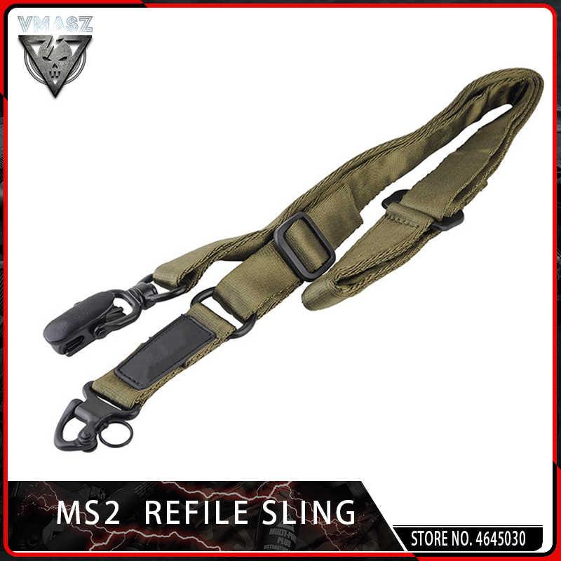 VMASZ Tactical Airsoft MS2 Tactische Multi-Mission Rifle Sling Gun Strap System Mount Set Voorraad Jacht Accessoires