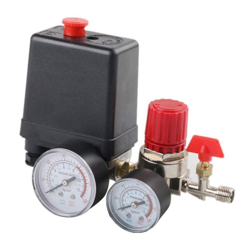 Basınç anahtarı hava valfi manifoldu kompresör kontrol regülatörü göstergeler Inflators otomobil parçaları bakım