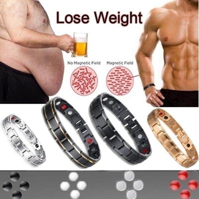 Pulsera magnética para el cuidado de la salud, brazalete para la pérdida de peso, alivio del dolor y artritis, energía de la salud, regalo Masculino Brazaletes  - AliExpress
