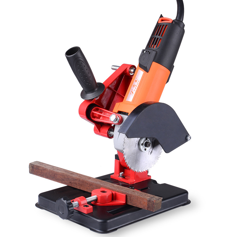 6125C Angle Grinder Stand Grinder Holder Support Cast Iron Base Bracket Holder Applicable 100-125 Angle Grinder