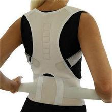 Corrector volta cinta reta cinto postura magnética terapia corretiva espartilho apoio lombar em linha reta masculino feminino cinta cinto novo
