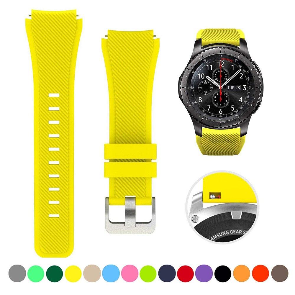 Ремешок силиконовый для Samsung Galaxy Watch 46 мм 42 мм, спортивный браслет для Samsung Gear S3 Frontier/Classic active 2 Huawei Watch 2, 22 мм