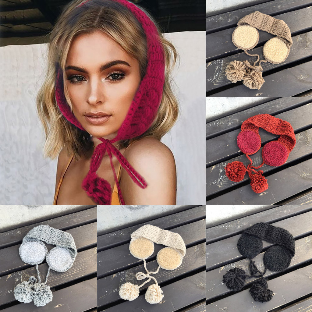 2 In 1 Scarf Earflap Winter Autumn Warm Plush Ear Muffs Knitting Hairwool Cute INS Fashion Warmer Earmuffs  Winter Accessories