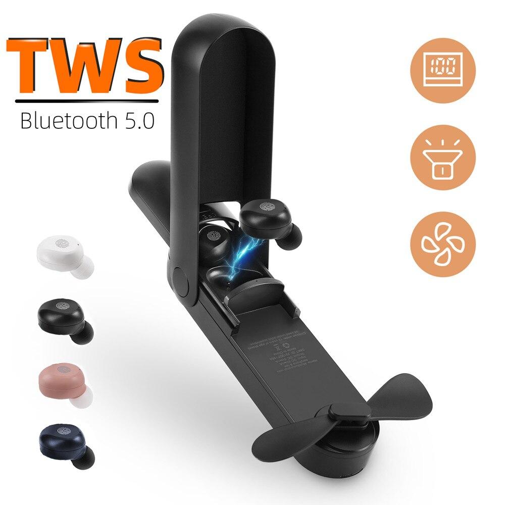 2020 New Arrival F7 Wireless Headphones TWS Sport Bluetooth 5.0 Earphones In-ear 9D Noise Reduction HiFi IPX5 Waterproof Headset