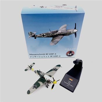 1:72 1/72 Scale WWII German air ace Fighter BF 109 BF-109 Me-109 Diecast Metal Airplane Plane Aircraft Model Toy