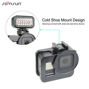 Image 3 - SOONSUN Aluminum Alloy Multi angle Shooting Cage Protective Frame Case Mount with 52mm UV Lens Filter for GoPro Hero 8 Black
