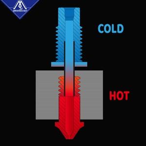 Image 3 - まろやかなnf V6 Zone熱ブレーク銅 & 航空宇宙材料3Dプリンタノズルスロート1.75ミリメートルE3D V6 hotendためのヒーターブロック