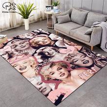 Marilyn monroe мягкие фланелевые 3d коврики с принтом противоскользящий