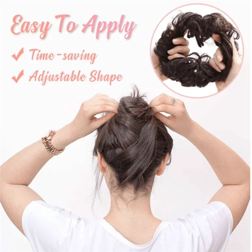 New Fashion Easy-To-Wear Stylish Hair Circle Women Girls Hair Circle Elastics Scrunchie hair accessories 3S02 (14)