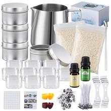 Kit de fabrication de bougies en soja, outils artisanaux, fournitures bricolage bricolage pour débutants, ensemble de tasses à cire