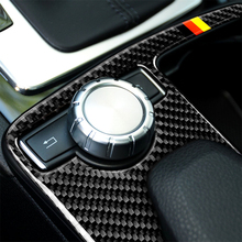 цена на Carbon Fiber Car Gear Panel Decoration Frame Cover Trim for Mercedes Benz W204(2007-2013) W212(2010-2012) C Class E Class LHD