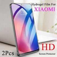 Película de hidrogel azul para Xiaomi Redmi Note 7 Pro, 4X, 7A, 5A, 6A, HD, Protector de pantalla suave, Note 4X, 5Plus, cobertura de borde