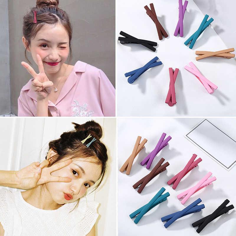 1 adet mat şeker renk ilmek tokalar saç klipler tokalarım sevimli tatlı çocuk saç aksesuarları kadınlar için güzel kızlar şapkalar