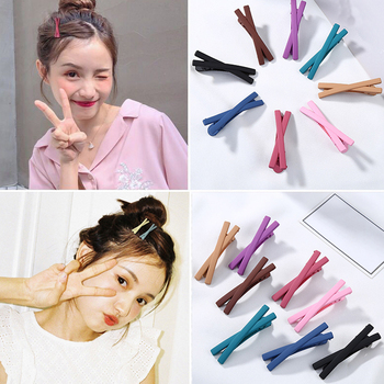 1PC Matte Candy Color Bowknot Hairpins Hair Clips Barrettes Cute Sweet Children Hair Accessories For Women Lovely Girls Headwear image