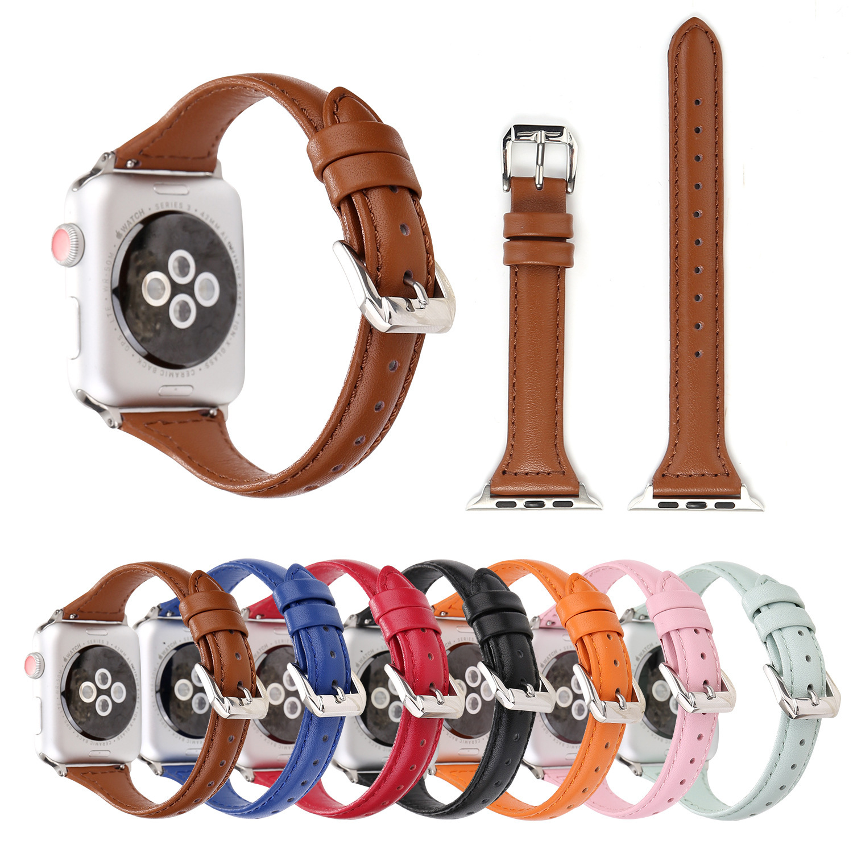 Suitable For Apple Watch Strap APPLE Watch Smart Watch Strap Iwatcht Word Slim Waist Leather Watch Strap
