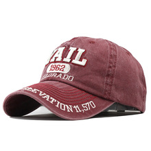 Men Baseball Cap Cotton Letter Embroidery Hat Women Washed S