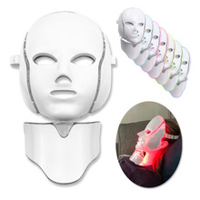 7 色の電気 LED フェイシャルマスク光子治療若返り抗にきびしわ肌を引き締め微少美容サロンツール