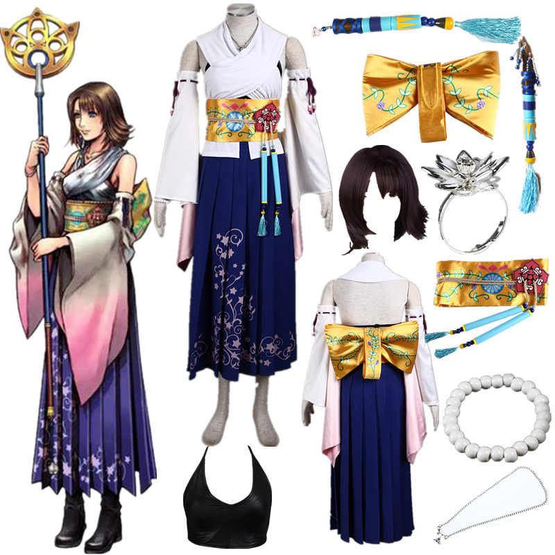 Game cosplay Final Fantasy number ten Yuna call dress Halloween Cosplay Costume Halloween image
