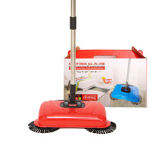Stainless Steel Sweeping Machine Hand Push Magic Broom Household Cleaning Sweeper mop smart multifunction whirlwind sweeper household hand push floor cleaner not need battery retractable rod broom sweeping machine