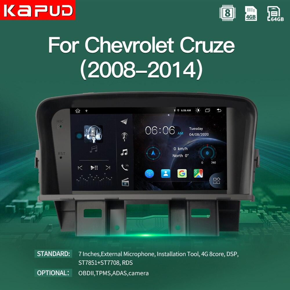 Rádio do carro de kapud reprodutor de vídeo multimídia navegação gps android 10.0 nenhum dvd para chevrolet cruze 2008-2014 estéreo quad core wifi