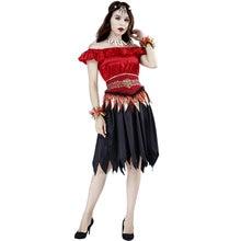 Страшное платье вампира костюм на Хэллоуин для женщин Карнавальная