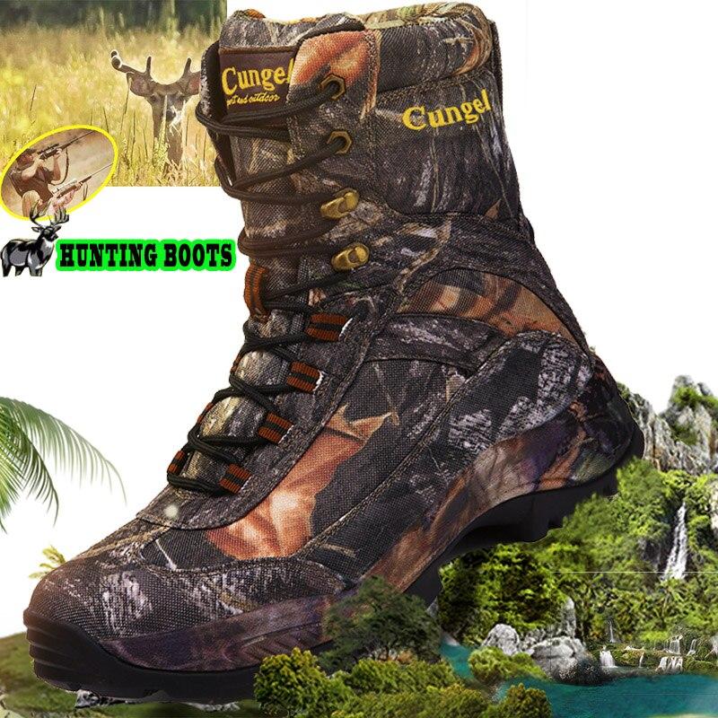CUNGEL yürüyüş ayakkabıları profesyonel su geçirmez yürüyüş botları nefes seyahat ayakkabısı açık dağ tırmanışı avcılık botları