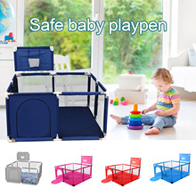 Ball-Pool Playpen Basketball Outdoor Baby Children Large Ce with Hoop Extra Mesh Fence
