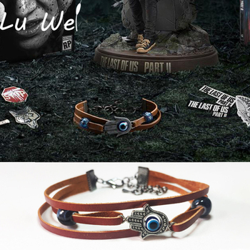 The Last of Us 2 Part 2 Cosplay Ellie Dina Charm Bracelet for Women Evil Eye Beads Leather Chain Bangles Bracelets Men Jewelry the last of us ellie costume adult halloween custom red t shirt suit for women hot game fancy shirt ellie outfit
