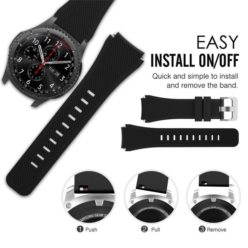 22mm Watch Band For Samsung Galaxy Watch Huawei Watch GT2 46mm 42mm Gear S3 Frontier Active  S2 Belt Silicone Strap