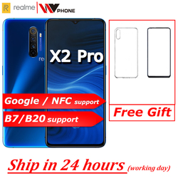 realme X2 pro X 2 Moblie Phone Snapdragon 855 plus 64MP Quad Camera 6.5'' Full Screen NFC OPPO Cellphone VOOC 50W super Charger