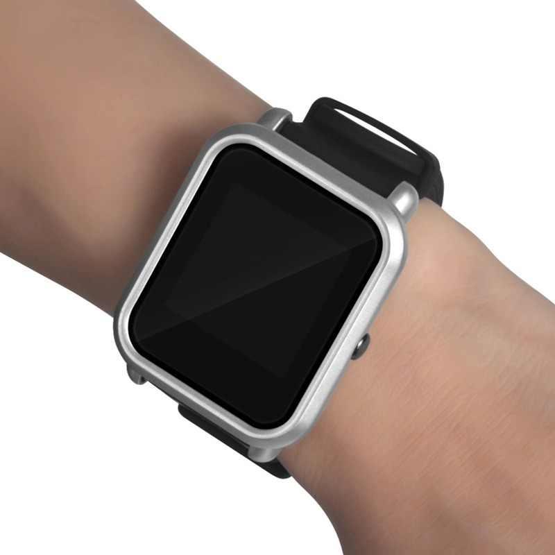Умные часы защитный чехол тонкий корпус ПК Защитный чехол для Huami Amazfit Bip Молодежные часы, серебристый