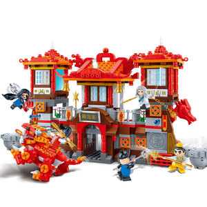 Image 2 - BanBao 中国風のカンフー寺チャイナ中国のドラゴン大砲アーキテクチャレンガ教育ビルディングブロックのおもちゃモデル