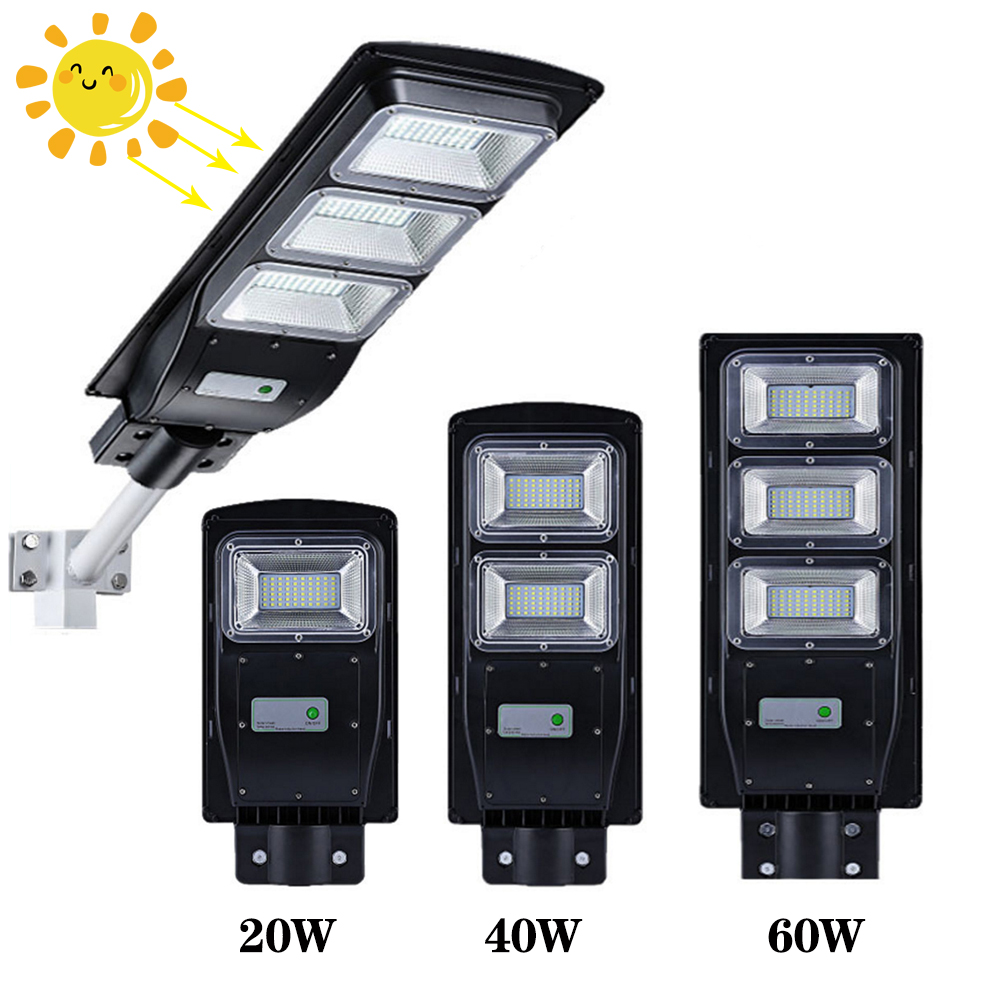 LED Solar Street Light 60W 40W 20W Radar Motion Sensor Outdoor Waterproof Solar Wall Lamp Floodlight For Garden Yard Street
