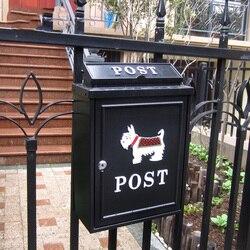 Villa Europea caja de carta al aire libre agua de lluvia Buzón de pared con cerradura postbox grande rural creativo caja de letra Hada jardín decoración