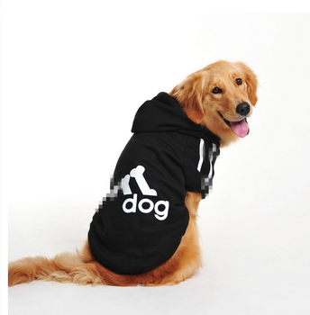 Big Pet Cartoon Dog Costumes Clothes Cotton Hoodies Jacket Winter Large Dog Sweaters Clothing Sports Dog Clothes image