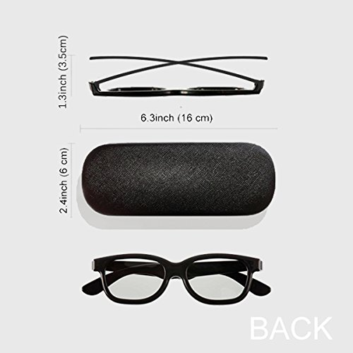 Leopard Feather Abstract Design Glasses Case Eyeglasses Clam Shell Holder Storage Box