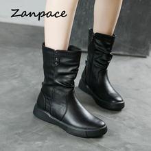 Женские ботильоны на платформе и каблуке кожаные ботинки больших