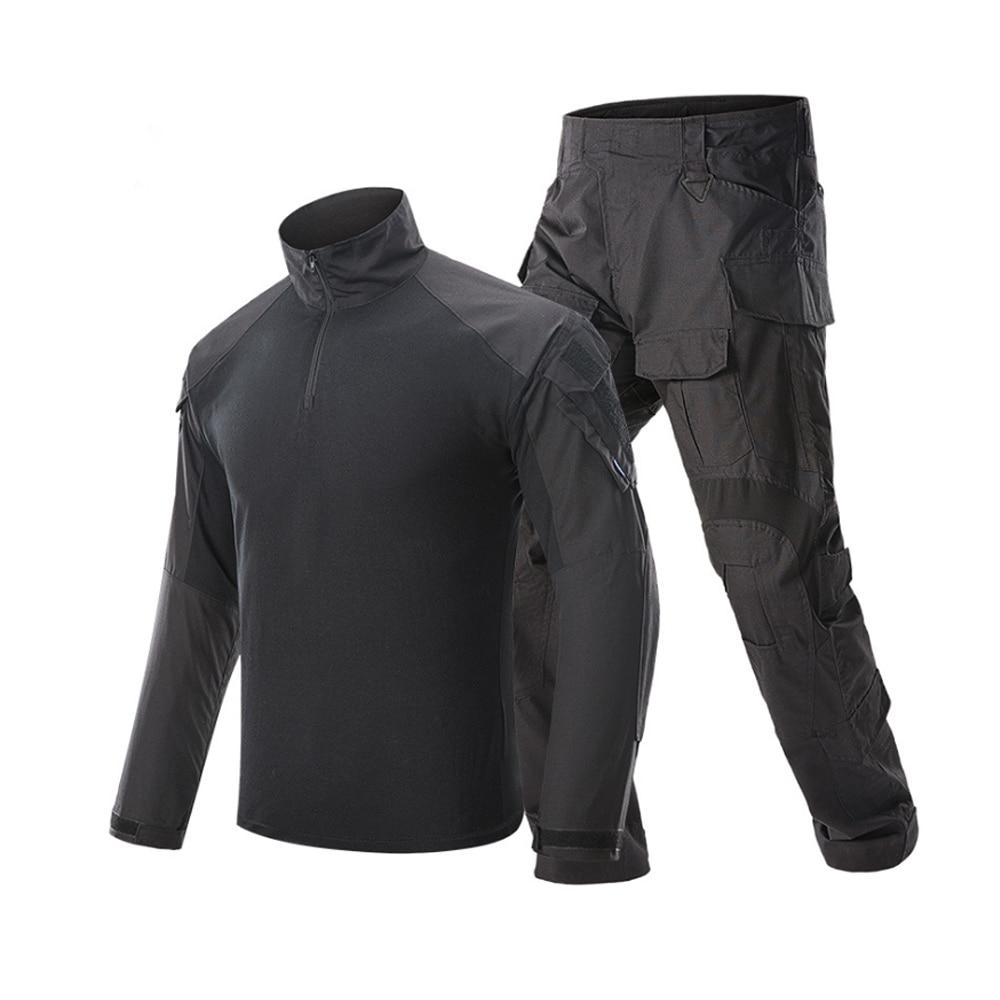 Klassieke Tactische Militaire Uniform Pak Mannen Leger Camouflage Paintball Pak Set Airsoft Paintball Multicam Cargo Shirt Met Broek - 4