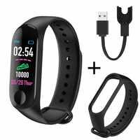M3 além de banda inteligente bluetooth esportes fitness rastreador inteligente pulseira sono saudável monitor de pressão arterial e freqüência cardíaca smartband