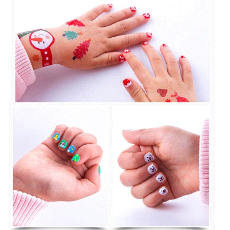 Детская паста бумажные наклейки детские наклейки для ногтей Тату стикеры милые Мультяшные животные Сделай Сам девочка креативный подарок