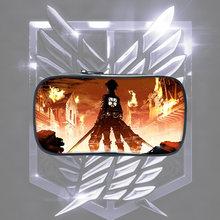 Пенал детский с рисунком аниме «атака на Титанов» Модный милый