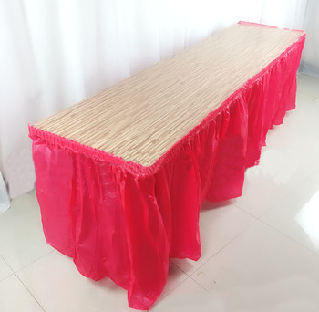 Disposable Table Skirt Birthday Party Plastic Table Cover For Wedding Baby Shower Home Tables Skirting Decoration