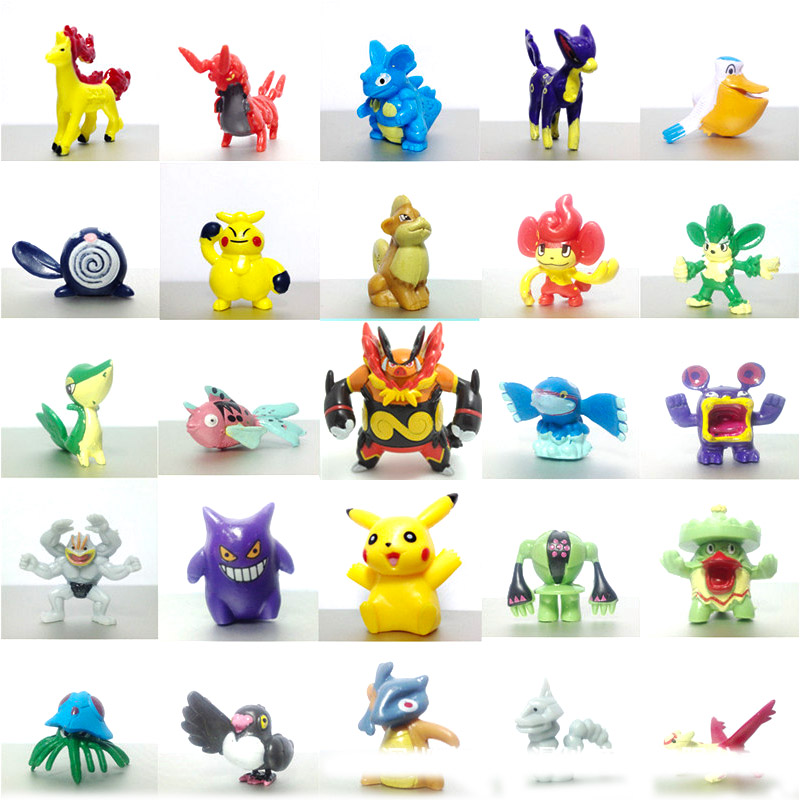 Takara Tomy 100pcs Pokemon Pocket Monster Action Figure Doll Kids Gifts Model Toys Pikachu Sun Moon 5cm image