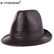 Buttermere натуральная кожа Шляпа fedora для мужчин коричневый