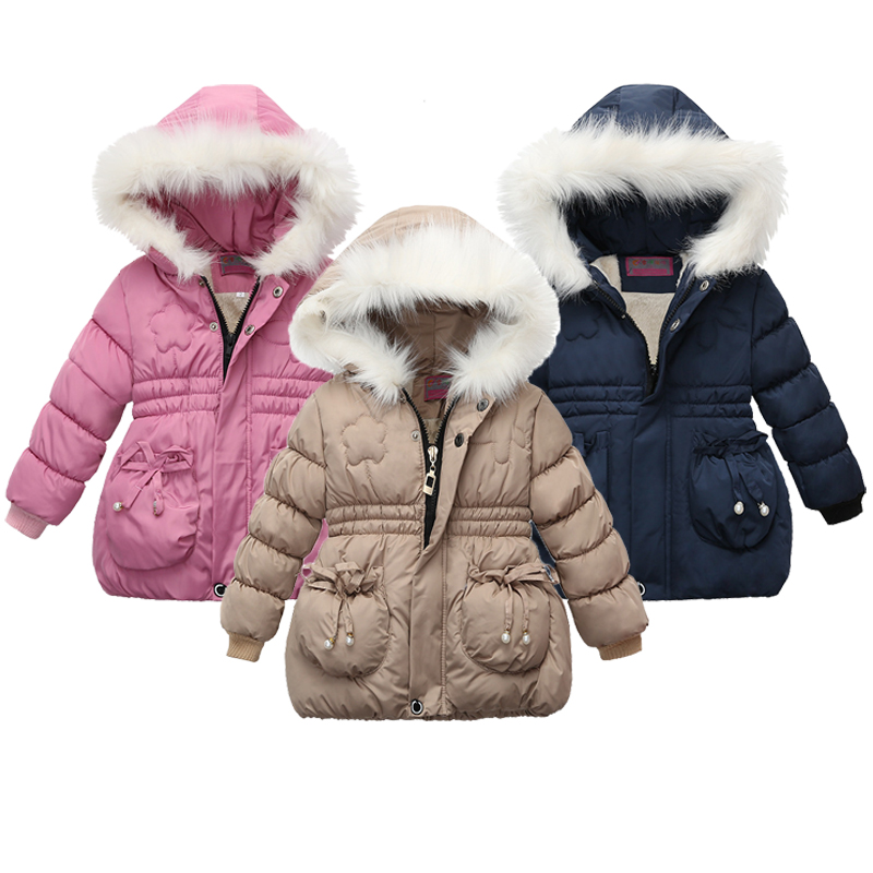 2021 Winter Girls Jackets Baby Girl Hooded Outerwear Autumn Children Clothing Warm Jacket Baby Kids Coats Clothes Girls Jacket 1