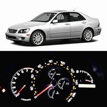 WLJH – kit d'ampoules Led pour Lexus IS300 2001 – 2005, lot de 5, panneau de tableau de bord de jauge, extrêmement lumineux, 7 couleurs